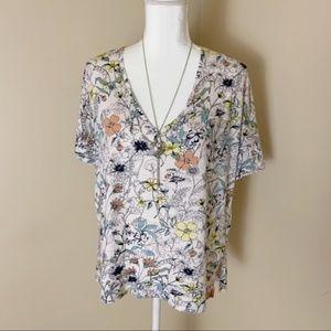 🌹3/$20🌹Lucky brand floral shirt sz large